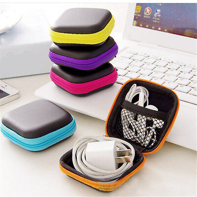 Random Color Waterproof Carrying Hard Case Box Headset Storage Pouch Bag