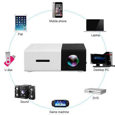 YG300 Portable Mini 1080P 3D WIFI LED Projector Home Theater HDMI/USB/AV
