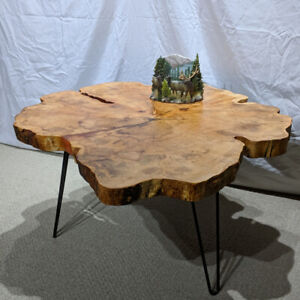 Live Edge Maple Coffee Table For Sale