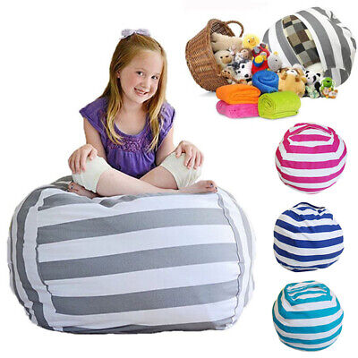 Childrens Bean Bags (EXTRA LARGE Stuffed Animal Toy Storage Bean Bag Kids Child Bean Cover Soft)