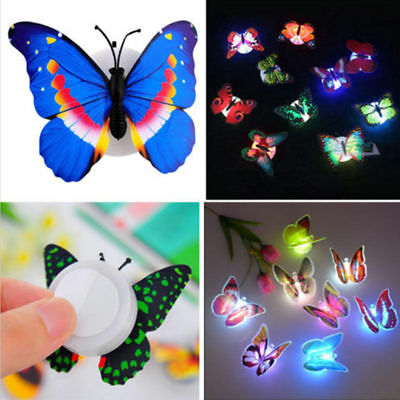 7 Color Changing Butterfly LED Night Light Lamp Kids Room Party Decor Romantic