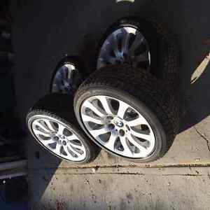 """4 Used 17"""" Blizzak Run Flat Winter Tires and BMW Rims"""