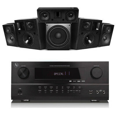 Profi Heimkino System 5.1 Surround Lautsprecher Boxen AV Receiver mit Bluetooth