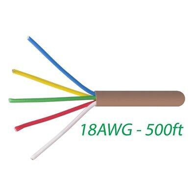 Logico 18-5 Thermostat Wire 18-gauge Copper Cmr Heating Ac Hvac Cable 500ft