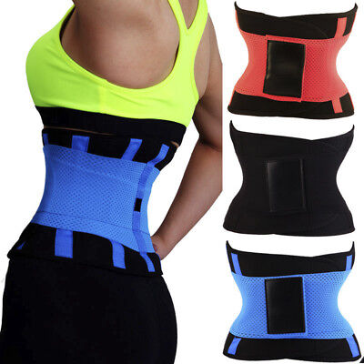 Yoga Fit Waist Trimmer Belt Trainer Girdle Weight Loss Burn FatsBody Shaper