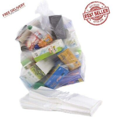 Abbey Clear Recycling Strong Bin Liners Sacks Refuse Rubbish Bags Pack Of 100