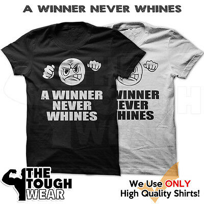 A WINNER NEVER WHINES Gym Men's Bodybuilding T-shirt for Bodybuilding -