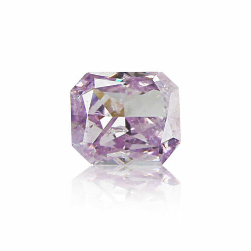 Pink Diamond Radiant Cut 0 .11 Ct Rare GIA Certified Loose Natural Purple Color
