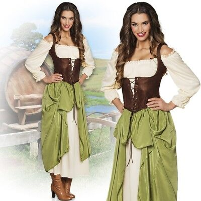 BÄUERIN Wirtin Mittelalter Damen Kostüm 44/46 (XL) Magd - Mittelalter Magd Kostüme