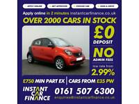 Smart forfour 1.0 ( 70bhp ) ( s/s ) 2015MY Passion FROM £33 PER WEEK