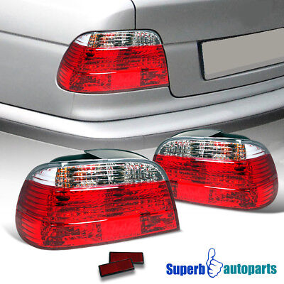 For 1995-2001 BMW E38 730i 740i 7 Series Tail Lights Red/Clear