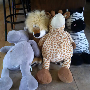 "4x Large Animal Plush Toys  - 33 to 35"" in Size"