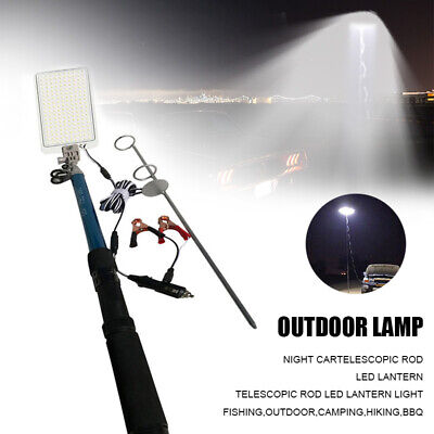 Telescopic Rod LED Fishing Outdoor Camping Lantern Light Lamp Hiking BBQ DC 12V Bbq Lights 12 Rod