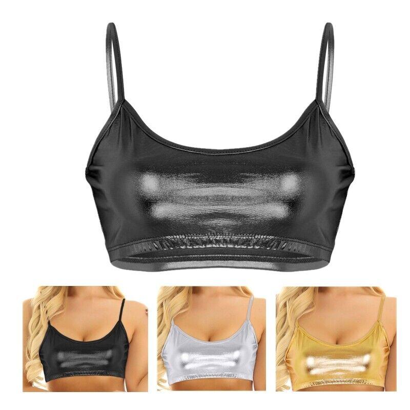 Women Breathable Bralette Unpadded Bra Mesh Crop Top Tank Tee Vest T-shirt Newly