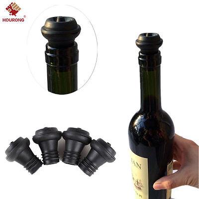 Vacuum Pump Vacu Vin Wine Bottle Saver Seals Plugs Extra Rubber Stoppers Set 4