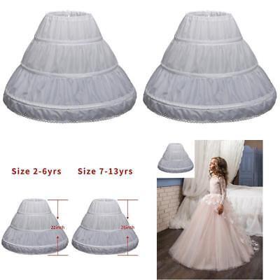 New 3 Hoop A-Line Crinoline Petticoat Underskirt Children for Flower Girl](Girls Petticoat)