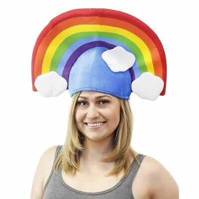 Funny Costume Hats (Large Rainbow Hat - Funny Headpiece Novelty Costume Accessory for Cosplay)