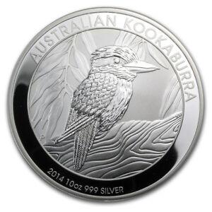 Pièce en argent/silver bullion Kookaburra 2014 10 oz