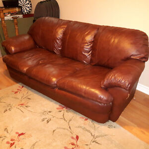 Leather Couch & Love Seat For Sale ! New Price !