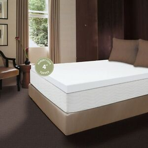 "Comfort Revolution 4"" Memory Foam Topper - King, New"