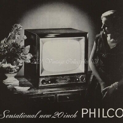 1952 Philco 20-inch Television TV Home electronics photo art decor vintage ad