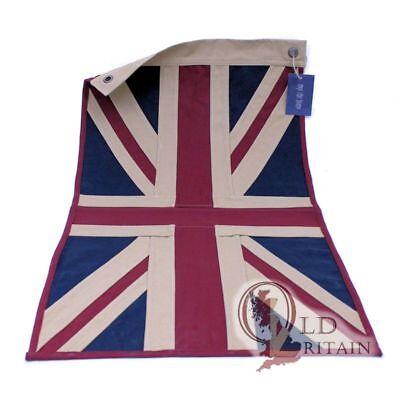 Eco Vintage Union Jack Flag | Heavy Duty Cotton | 80 x 42 cm - Tea Stained