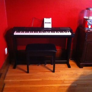 Casio Electric Keyboard with Pedals, Stand and Storage Bench