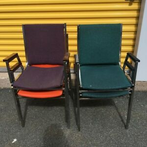 Stackin Chrome Legged Chairs for SALe