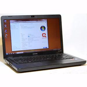 "Compaq CQ56 Laptop Core2 Duo Webcam WiFi 4GB RAM 250GB HDD 15.6"""