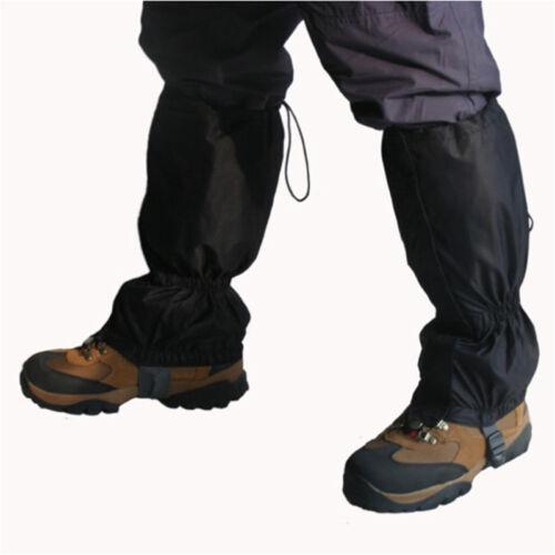 "Snowproof Waterproof Leg Gaiters Nylon shoe boot cover zip up hiking legging 16"""