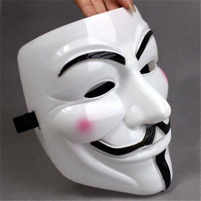 Half Masks For Sale (Sales V For Vendetta Mask Guy Fawkes Anonymous Halloween Masks Fancy Cosplay)