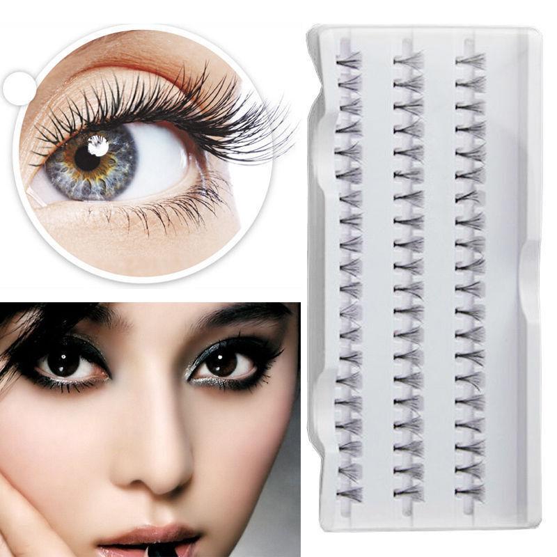 Vogue Makeup Women 60 Individual Fake False Eyelash Cluster