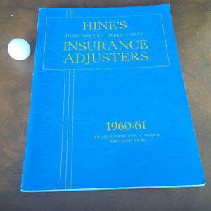 Hine's Directory of Independent Insurance Adjusters, 1960-61