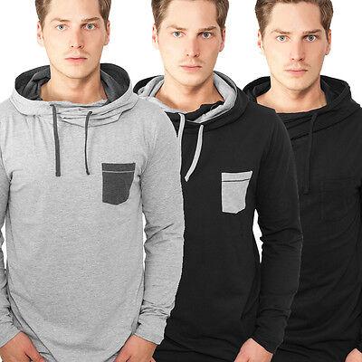 URBAN CLASSICS HIGH NECK POCKET HOODY KAPUZENPULLOVER SWEATSHIRT KAPUZE  High Neck Sweatshirt