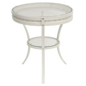 Monarch Specialties I 2141 Antique White Accent Table, New
