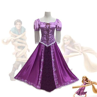 Easter Cosplay Purple Tangled Princess Fancy Dress Rapunzel Costume for Women