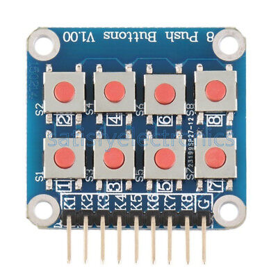 Matrix 8 Keypad Keyboard Board Module 8 Button Tactile Switch For Arduino