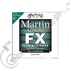 3-Sets-Martin-FX-SILK-PHOSPHOR-Flexible-Core-ACOUSTIC-GUITAR-Strings-MFX130
