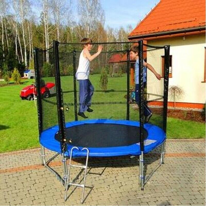 6FT Kids Mini Jumping Round Trampoline Exercise W/ Safety Pa