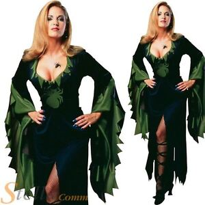 Ladies Enchantra Spider Witch Halloween Fancy Dress Costume Outfit Size 10-14