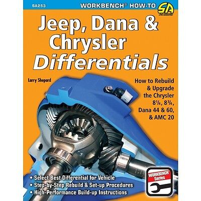 Jeep Dana & Chrysler Differentials- How To Rebuild & Upgrade - Book SA253