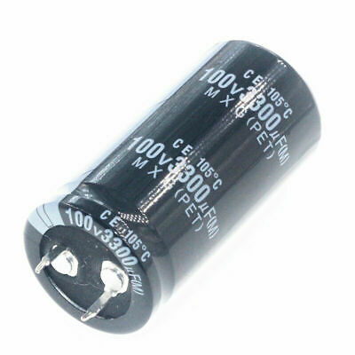 2pcs 100v 3300uf 100volt 3300mfd Electrolytic Capacitor 25mm50mm