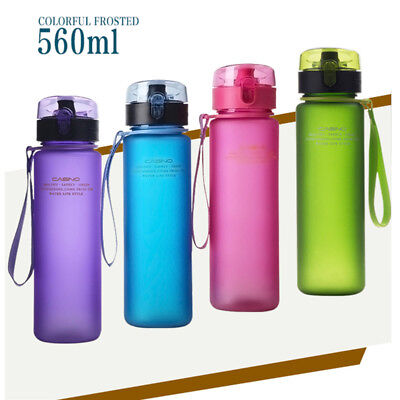 560ML Outdoor Sports Water Bottle For Bicycle Cycling Gym Tour Drinking BPA Free