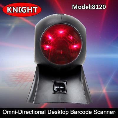 Desktop Omnidirectional 20 Lines Laser Barcode Scanner Bar Bar code Reader w/USB