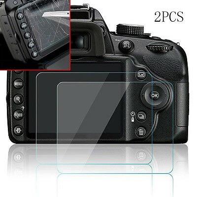 2pcs Hard Tempered Glass Screen Protector Film for Nikon D3200 D3300 D3400