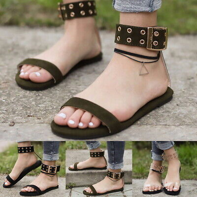 Ladies Jelly Shoes - Summer Lady Beach Transparent Flat Sandals Open Toe Gladiator Clear Jelly Shoes#