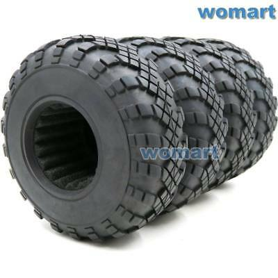 - 4pc RC 1.9 Crawler Truck Tires 108mm For RC 4WD Axial 1.9 Beadlock alloy Rims