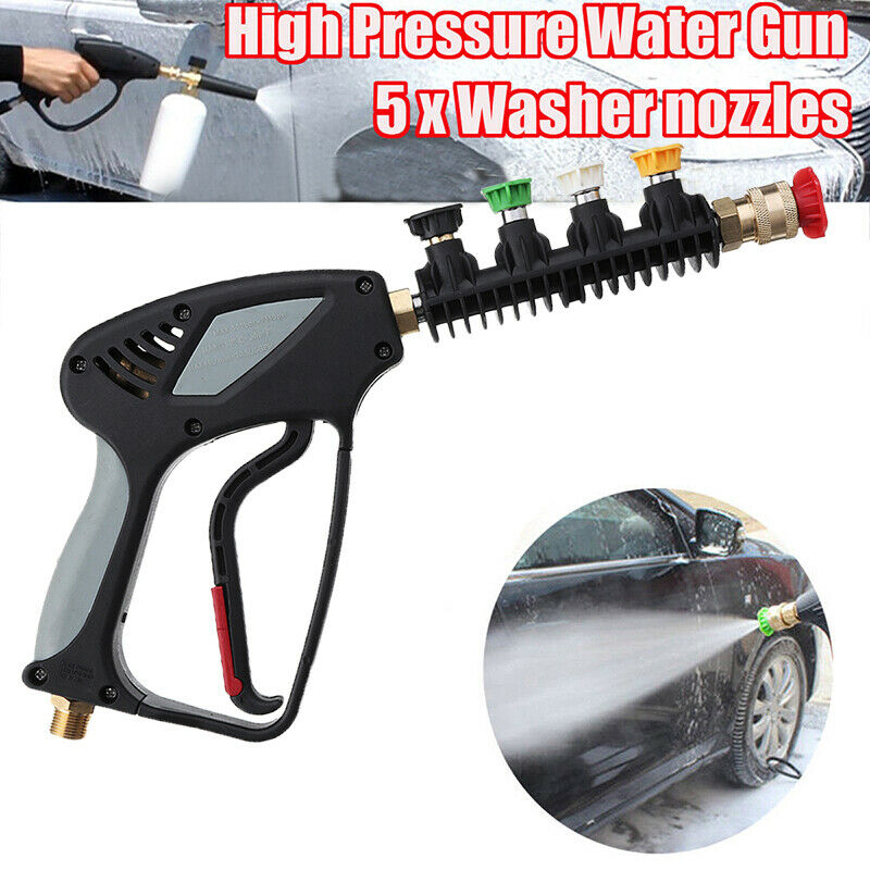 High Pressure Car Water G un Spray Nozzle Washer Interface Outer Wire 16.5mm ^