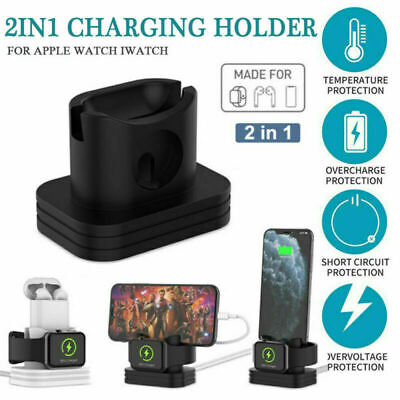 Charging Dock Stand Station Charger Holder For Apple Watch iWatch iPhone X XR
