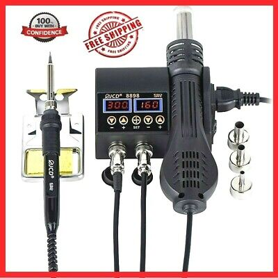 2 In 1 Soldering Rework Station 800w Lcd Digital Display Welding Tool Solder